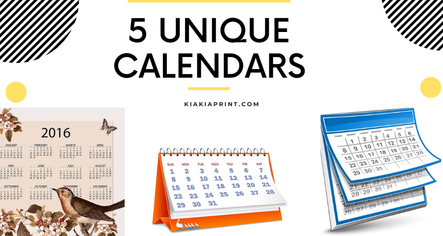 Printing calendars with kiakiaprint