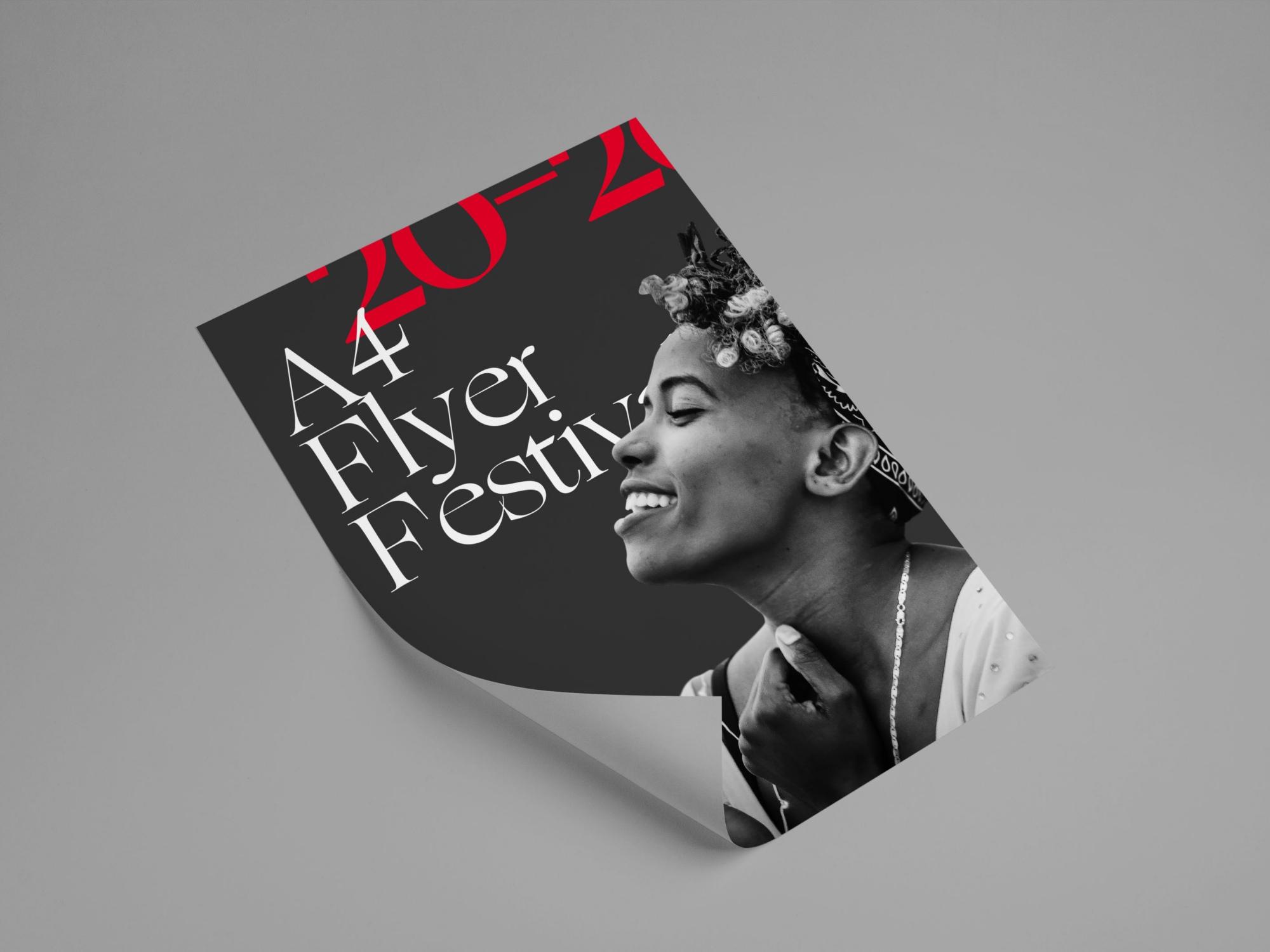 A4 Single-sided flyer made by Kiakiaprint