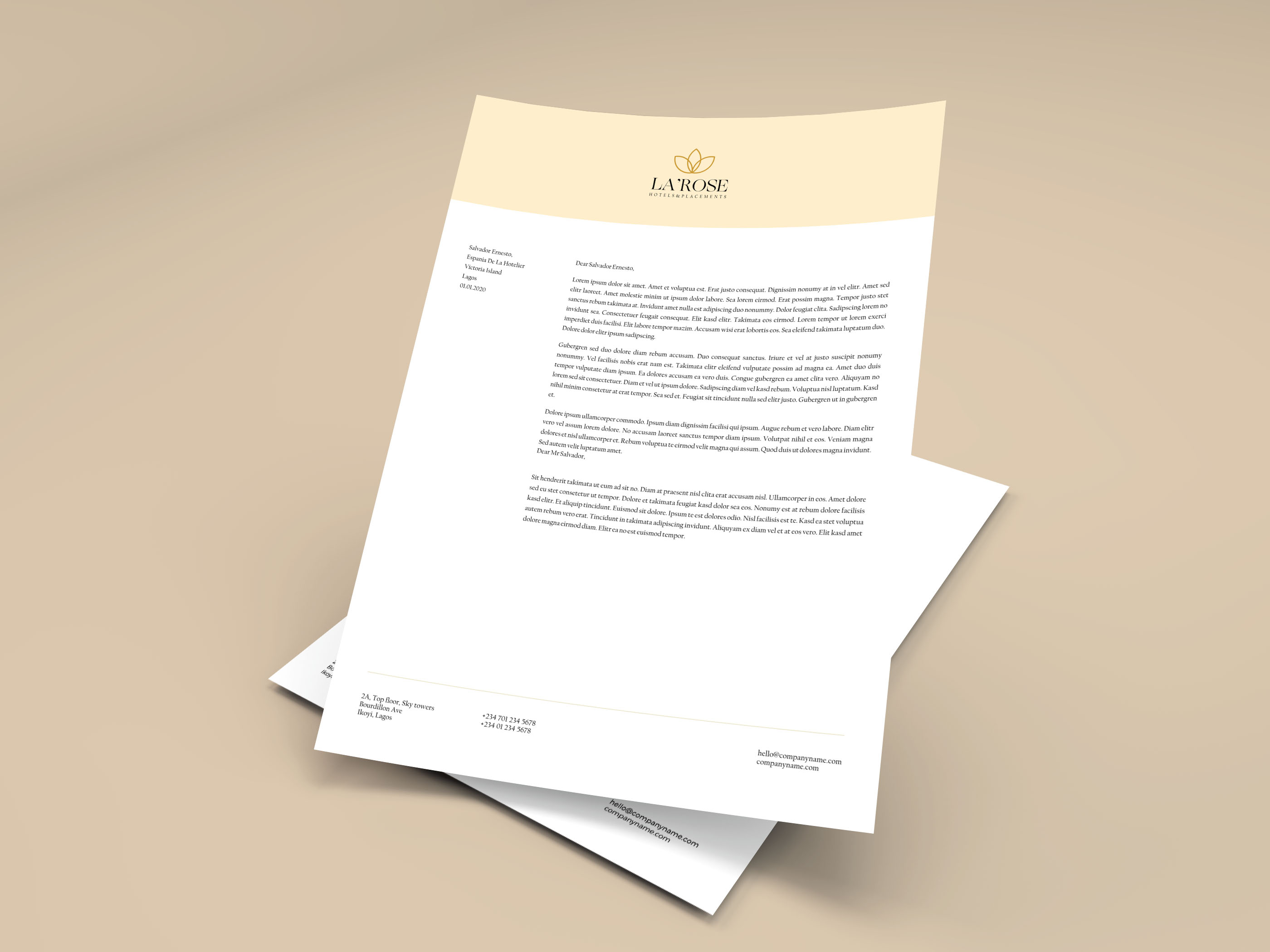Business Letterheads printed in South Africa